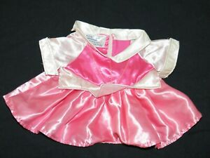 Build-A-Bear Disney Princess Aurora Sleeping Beauty Satin Fancy Gown Dress