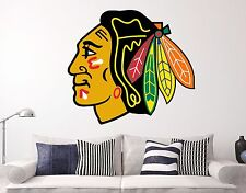 Chicago BlackHawks NHL Wall Decal Sports Hockey Sticker Vinyl Decor Many Size HD