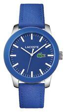 Lacoste Men's 12.12 Steel Blue Nylon Strap Watch.