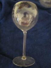 "Lot Of 5 Globe Wine Glasses 8 1/2"" x 3 3/4"" Ribbed Scalloped"