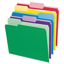Pendaflex File Folders with Erasable Tabs 1/3 Cut Top Tab Letter Assorted 30