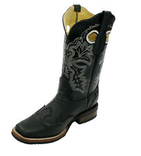 Men Genuine Leather Cow Hide Cow Boy Square Toe Boots Style CH 3010