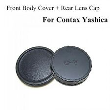 Body And Rear Lens Caps For Contax/Yashica C/Y Mount UK Seller