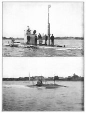 NETHERLANDS. Submarine boat; 1 protector cruising trim; 2 boat Newport 1907