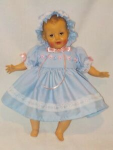"16"" Vintage Rubber/Cloth Baby Doll Marked R&B"