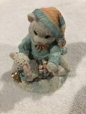Enesco Calico Kittens figurine Ewe warm my heart #628182 old stock 1993 Cat