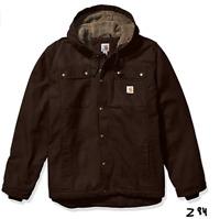 Carhartt mens Bartlett Jacket Dark Brown, Large ~ Z84