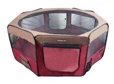 "62"" Portable Puppy Pet Dog Soft Tent Playpen Folding Crate Pen New - Bur/Coffee"