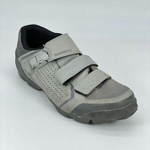 Shimano Mens ME5 Trail Enduro Gray Leather Mountain Bike Cycling Shoes Size 9