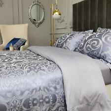 King Size Duvet Cover Set, 6 Piece Luxury Jacquard Bedding, Dolce Mela Las Ve...
