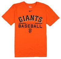 NIKE San Francisco Giants Baseball T-Shirt sz S Small Orange Black MLB