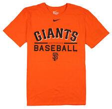 NIKE San Francisco Giants Baseball T-Shirt sz 2XL XX-Large Orange Black MLB