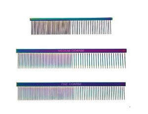 Rainbow Color Greyhound Combs for Dog Grooming Tools 3 Size Sets Available Too