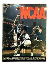 1974 NCAA Basketball Championship Program Finals Greensboro NC & State Marquette