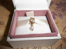 Genuine Authentic Pandora 14ct Gold & White Pearl Pendant Charm 750219P 585 ALE