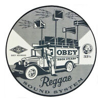 Obey Records - Reggae Sound System - Single Slipmat Black / White