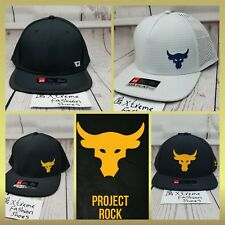New Under Armour Project Rock Mens Hats UA Snapback Cap Adjustable Black White