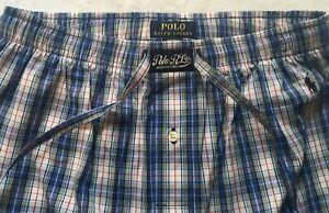 Polo Ralph Lauren Men's Woven Plaid Pajama Pants Blues/Red/Yellow Size S NWT