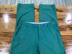Adidas Performance Golf ⛳ Pants Men's 32x32 Green ElasticWaist Lightweight