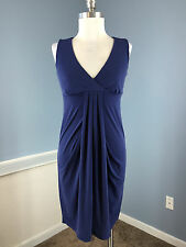 Ann Taylor Blue Stretch XS Career Cocktail Excellent Sheath Empire Waist
