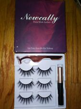 Newcally False Lashes Kit 18Mm Long False Eyelashes 3 Pairs