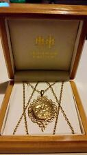 "9ct Yellow Gold St George & The Dragon Scroll Pendant & 29"" Chain Necklace*****"