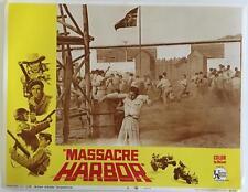 commando operation to free the prisoners Massacre Harbor 1968 # 4 lobby card 316