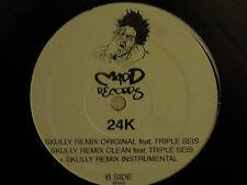 "24K SKULLY 12"" ORIG '03 MADD RECORDS HIP HOP RARE RANDOM RAP TRIPLE SEIS SEALED!"