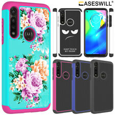 For Motorola Moto G Power (US) Rugged Dual Layer Shockproof Patterned Case Cover