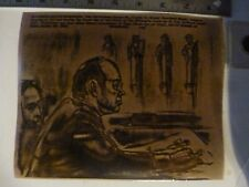 Vintage Wire Press Photo Watergate John Ehrlichman Draws 1st Day Trial 10/1/1974