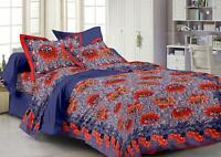 Indian Floral Cotton Bedding Set Decorative Bed Sheet Modern Tapestry Throw