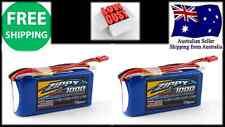 2Pack ZIPPY FLIGHTMAX 1000mAh 3S 25C 11.1v LIPO Battery JSTXH Plug RC Heli Plane
