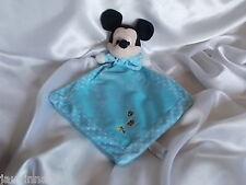 Doudou souris Mickey bleu, Disney, Nicotoy, Blankie/Lovey/Newborn toy