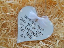 Personalised Godparents Thank You Heart Plaque Keepsake Gift