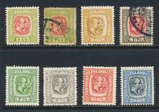 ICELAND 1915-18, KING CHRISTIAN SET, VF MINT/USED Sc#99-107 CAT$430 (SEE BELOW )