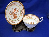 """ANTIQUE GROSVENOR TEA CUP AND SAUCER - """"MING BLOSSOM"""" PATTERN - MADE IN ENGLAND"""