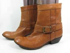 MOMA Buckle Boot Women size 39 US 9-9.5 Tan Leather