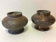 Pots pansus godronnés en bronze ? a priori Chine impériale China Asie Asia