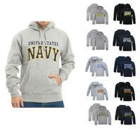 US Military Air Force Army Marines Coast Guard Navy Pullover Hoodie Sweatshirt