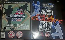 Lot of 2 Programs Boston Red Sox World Series 2004 League Championship Yankees