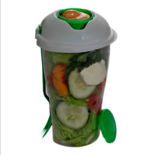 Salad Container Serving Cup Shaker with Dressing Food Storage for Picnic To Go