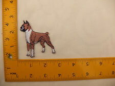 "EMBROIDERED Boxer dog  #15 Iron On / Sew On Patch approx 3""(7.5cm)"