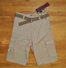 NWT Mens IRON Co. Vintage Wash Khaki Belted Shorts Sz 31 $48