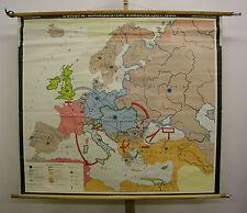 Schulwandkarte schöne alte Europakarte Kanzler Bismarck Kaiserreich 147x129 1969