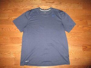 Mens Nike Dri-Fit Touch Striped Blue Training Shirt Sz. XL