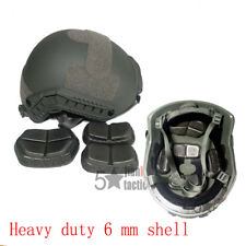 Heavy Duty MH Fast Tactical Helmet  for Airsoft Grey Combat Gear Adjustable Knob