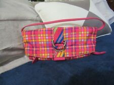 Tommy Hilfiger mini clutch purse shoulder bag. Gorgeous satin colours. Ex cond.