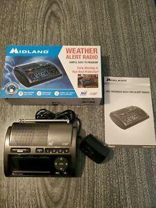 Midland WR400 Deluxe Digital AM FM NOAA Emergency Weather Alert Radio Manual Box