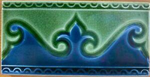 Art Deco Nouveau Collectible Vintage Majolica Border Tile Rare Antique England