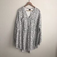 TORRID Womens Babydoll Animal Print Top Size 3X Plus